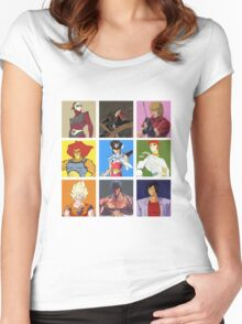 80's heroes Women's Fitted Scoop T-Shirt