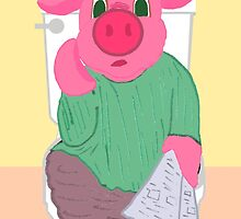 Pig on the Hopper by PharrisArt