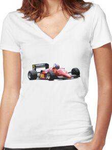Ferrari 156/85 F1 Women's Fitted V-Neck T-Shirt