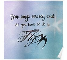 Inspirational Quote - Fly Poster
