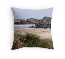 West Coast Beach Scene Tasmania Throw Pillow