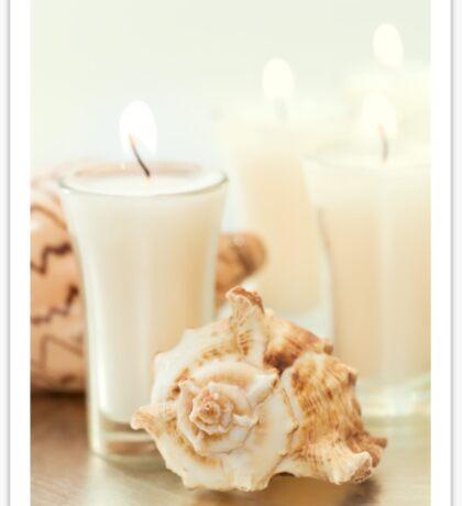 Candles & Seashells Sticker