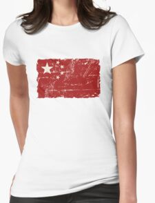 China Flag - Vintage Look Womens Fitted T-Shirt