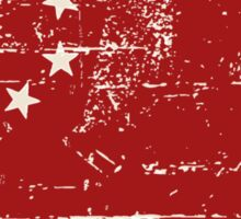 China Flag - Vintage Look Sticker