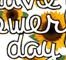 Flowerful Day Sticker