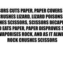 Rock, Paper, Scissors, Lizard, Spock by faith-in-ink