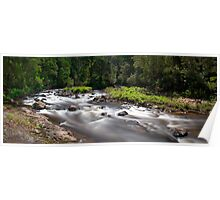 Aire River - Black Glass Poster
