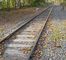 Foxboro's Patriots Commuter Rail's Train Track by Eric Sanford