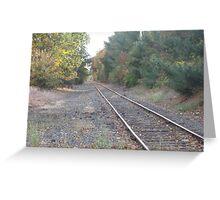 Foxboro's Patriots Commuter Rail's Train Track Part 2 Greeting Card