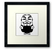 Minion anonymous Framed Print