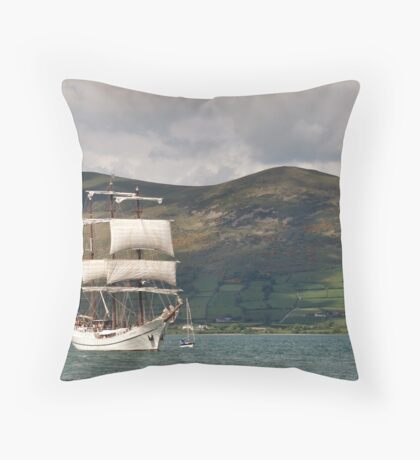 Tall sails in Carlingford Louth Throw Pillow