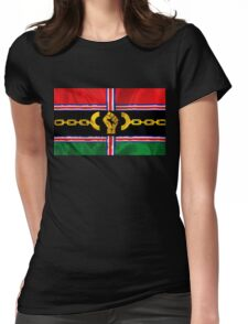 VICTORY Version Pan-African Flag Womens Fitted T-Shirt