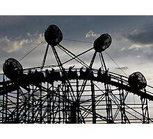 Cliff's Amusement Park Photographic Print