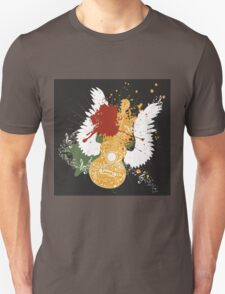 Music Poster with Guitar 2 Unisex T-Shirt