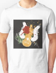 Music Poster with Guitar 2 T-Shirt