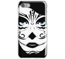 Woman in Sugar Sull Make-up iPhone Case/Skin