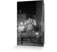 A night in Quebec City Greeting Card