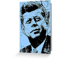 JFK-BLUE STATE Greeting Card