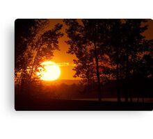 Petrie Island sunset. Canvas Print