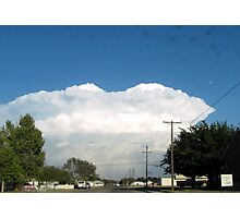 into a cloud Photographic Print