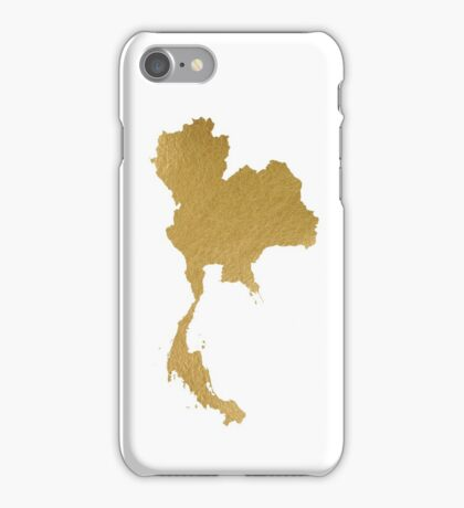 Gold Thailand map iPhone Case/Skin