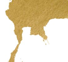 Gold Thailand map Sticker