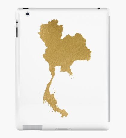 Gold Thailand map iPad Case/Skin