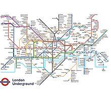 London Underground MAP Photographic Print