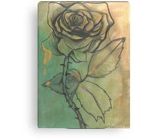 Gold Blood Rose Canvas Print