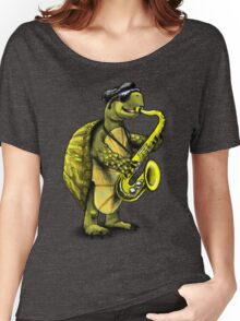 Saxophone Playing Turtle Women's Relaxed Fit T-Shirt