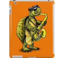 Saxophone Playing Turtle iPad Case/Skin