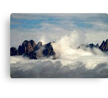 Mountains Through the Clouds Canvas Print
