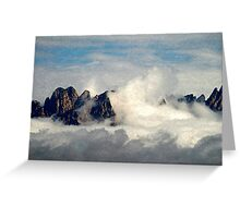 Mountains Through the Clouds Greeting Card