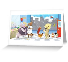 The letter H Greeting Card