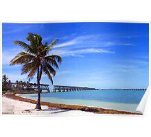 Bahia Honda Park, The Old Train Bridge - Florida Poster