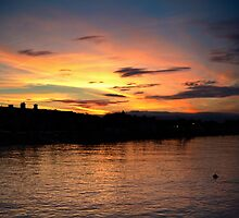 Sunset over Starcross by gazmercer