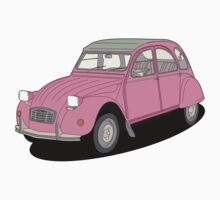 Citroen 2cv pink by VectorGifts