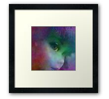 Rainbow Glow On Barbie Doll Framed Print