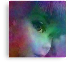 Rainbow Glow On Barbie Doll Canvas Print