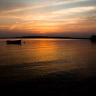 Sunset Boats - Georgetown PEI by David Clayton