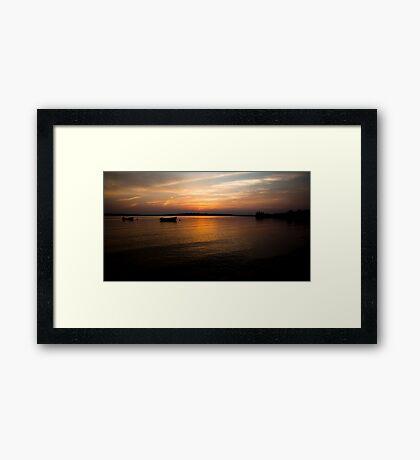 Sunset Boats - Georgetown PEI Framed Print