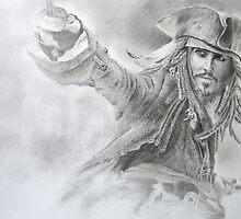 Captain Jack Sparrow Drawing,Johnny Depp, by StuartClark