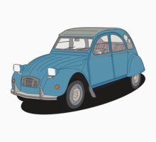 Citroen 2cv blue by VectorGifts