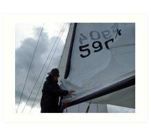Swedish Sailor Getting the Boat Ready - Gothenburg, Sweden Art Print