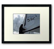 Swedish Sailor Getting the Boat Ready - Gothenburg, Sweden Framed Print