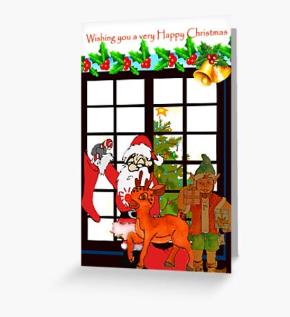Christmas Elf Greeting Card