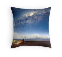 Camping in a fairytale Throw Pillow