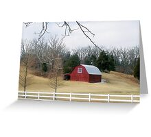 Western Ky. Barn Greeting Card