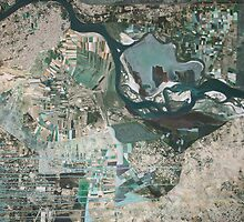 Pakistan flood 2010 abstract by Cecilie Hole