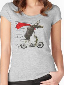moped moose Women's Fitted Scoop T-Shirt